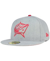 New Era Columbus Blue Jackets Heather League Basic 59Fifty Cap