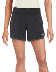 New Balance Drawstring Active Knit Shorts Black