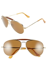 Randolph Engineering 'Sportsman' 61Mm Aviator Sunglasses Gold Tan