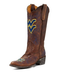 West Virginia Tall Gameday Boots Brass Gameday Boot Company