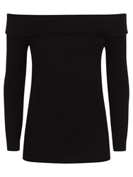 Jaeger Jersey Off The Shoulder Top Black