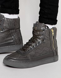 Criminal Damage Python Mid Trainers Grey