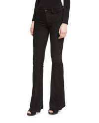 Alice Olivia Suede Flare Pants Black