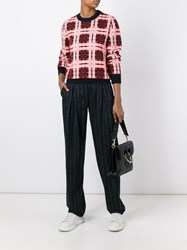 Cedric Charlier Checked Jumper Red