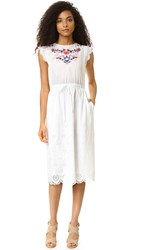 Rebecca Taylor Garden Embroidered Dress Snow
