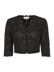 Linea Corded Lace Occasion Jacket Black