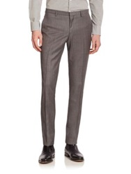J. Lindeberg Flat Front Virgin Wool Pants Grey