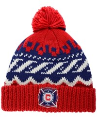 Adidas Chicago Fire Sweater Pom Knit Hat Red