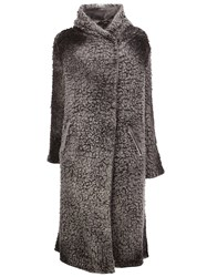 Avant Toi Dislocated Fastening Cardi Coat Grey