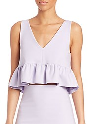 Elizabeth And James Analinne Cropped Ruffle Tank Top Thistle