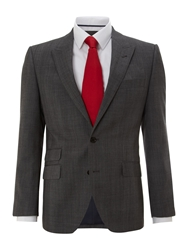 New And Lingwood Montague Peak Suit Jacket With Ticket Pocket Grey