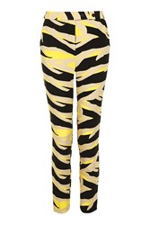 Topshop Tiger Cigarette Trousers Yellow
