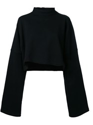 Strateas Carlucci Cropped Sweatshirt Black