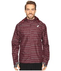 Asics Storm Shelter Jacket Rioja Red Men's Coat Burgundy
