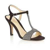 Lotus Fenella Open Toe Court Shoes Black