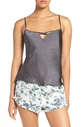 Chelsea 28 Women's Chelsea28 Cross Neck Satin Camisole Grey Forged