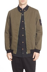 Thing Thing 'The Narc' Collarless Bomber Jacket Army
