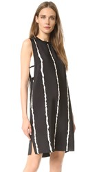 Derek Lam Sleeveless Dress With Side Cutout Black Multi