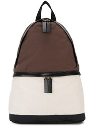 Marni Colour Block Backpack Brown