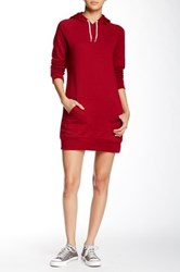 American Apparel California Fleece Pullover Hoodie Dress Red