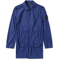 Stone Island Shadow Project Jersey R Light Trench Coat Blue