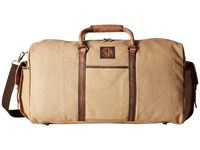 Sts Ranchwear The Foreman Duffel Bag Light Khaki Canvas Leather Duffel Bags