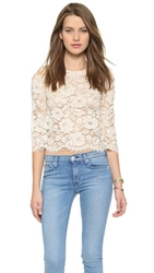 Candela Crawley Lace Top Off White