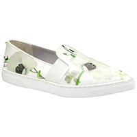 Ted Baker Thfia Pointed Toe Slip On Trainers Green