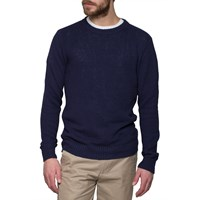 Gant Rugger Navy Texture Sweater Blue