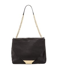 Foley Corinna Ziggy Leather Shoulder Bag Black