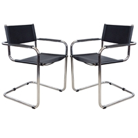 Pair Of Breuer Style Cantilevered Chairs At 1Stdibs