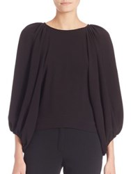 Escada Dolman Sleeve Blouse Black