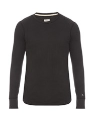 Rag And Bone Crew Neck Waffle Knit Sweater Charcoal