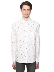 Cheap Monday Tally Print Organic Cotton Oxford Shirt