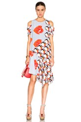 Suno Fwrd Exclusive Asymmetrical Dress In Abstract Blue
