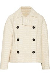 Proenza Schouler Cotton Blend Boucle Tweed Jacket White
