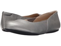 Softwalk Norwich Pewter Soft Nappa Leather Women's Dress Flat Shoes