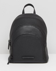 Kendall Kylie Mini Sloane Pebble Leather Backpack Black