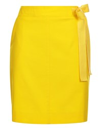 Jaeger Casual Belted Skirt Yellow