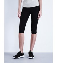 Ivy Park High Rise Cropped Jersey Leggings Black