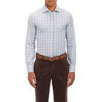 Luciano Barbera Checked Shirt Brown