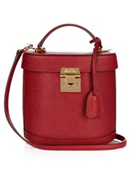 Mark Cross Benchley Grained Leather Shoulder Bag Red