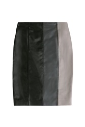 Paule Ka Leather Skirt Multicolor