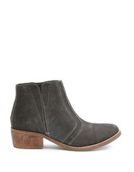 Matisse Fury Leather Ankle Boots Charcoal Grey