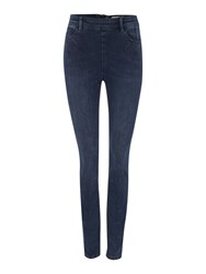 Label Lab Thorn Indigo High Waist Exposed Zip Jean