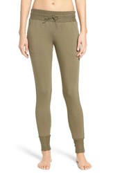 Free People Women's Skinny Sweat Jogger Pants Green