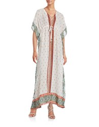 Vero Moda Sheer Drawstring Caftan Dress White