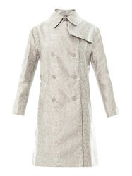 Richard Nicoll Snake Effect Jacquard Trench Coat