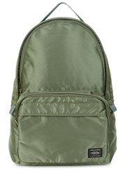 Porter Tanker Green Satin Backpack Olive