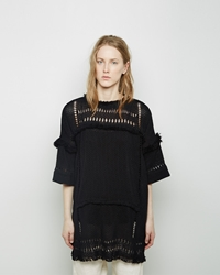 Isabel Marant Tandy Oceanic Fringe Top Black
